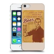 Official Lantern Press Man Cave Don'T Cry Over Spilled Milk Hard Back Case For Apple Iphone 5 / 5S / Se