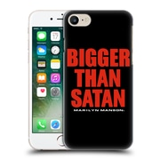 Official Marilyn Manson Key Art Bigger Than Satan Text Hard Back Case For Apple Iphone 7