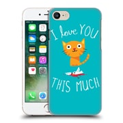 Official Dinomike Fun Illustrations I Love You This Much Hard Back Case For Apple Iphone 7