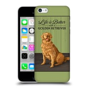 Official Lantern Press Dog Collection Life Is Better With A Golden Retriever Hard Back Case For Apple Iphone 5C