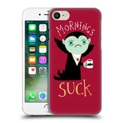 Official Dinomike Fun Illustrations Mornings Suck Hard Back Case For Apple Iphone 7
