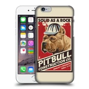 Official Lantern Press Dog Collection Pitbull Construction Hard Back Case For Apple Iphone 6 / 6S