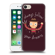 Official Dinomike Fun Illustrations Always Follow Your Dreams Hard Back Case For Apple Iphone 7
