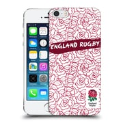 Official England Rugby Union 2016/17 Patterns Red Outline Rose Hard Back Case For Apple Iphone 5 / 5S / Se