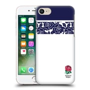 Official England Rugby Union 2016/17 Patterns Navy Striped Rose Hard Back Case For Apple Iphone 7