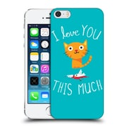 Official Dinomike Fun Illustrations I Love You This Much Hard Back Case For Apple Iphone 5 / 5S / Se