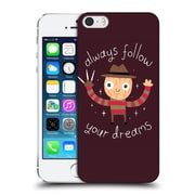 Official Dinomike Fun Illustrations Always Follow Your Dreams Hard Back Case For Apple Iphone 5 / 5S / Se