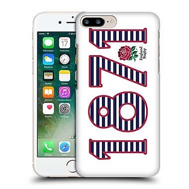 Official England Rugby Union 2016/17 The Rose 1871 Landscape Hard Back Case For Apple Iphone 7 Plus