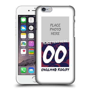 Custom Customised Personalised England Rugby Union 2016/17 1871 Design Hard Back Case For Apple Iphone 6 / 6S