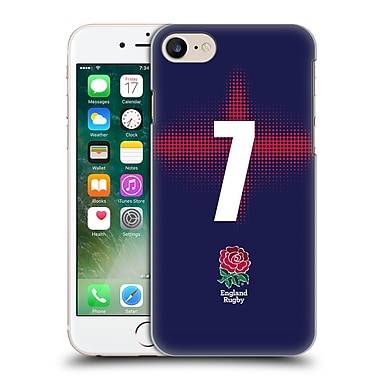 Official England Rugby Union 2016/17 Alternate Kit Position 7 Hard Back Case For Apple Iphone 7
