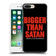 Official Marilyn Manson Key Art Bigger Than Satan Text Hard Back Case For Apple Iphone 7 Plus