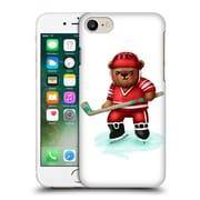 Official Oilikki Animals Bear Hockey Hard Back Case For Apple Iphone 7
