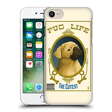 Official Lantern Press Dog Collection Pug Life Hard Back Case For Apple Iphone 7