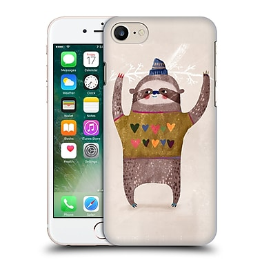 Official Oilikki Sloth Christmas Hard Back Case For Apple Iphone 7