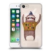 Official Oilikki Sloth Christmas Hard Back Case For Apple Iphone 7