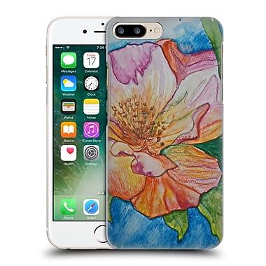 Official Magdalena Hristova Flowers Orange And Pink Hard Back Case For Apple Iphone 7 Plus