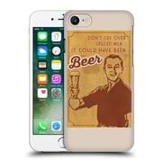 Official Lantern Press Man Cave Don'T Cry Over Spilled Milk Hard Back Case For Apple Iphone 7
