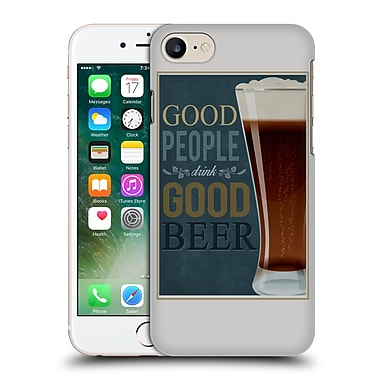 Official Lantern Press Man Cave Good People Hard Back Case For Apple Iphone 7