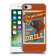 Official Lantern Press Man Cave Time To Drill Hard Back Case For Apple Iphone 7