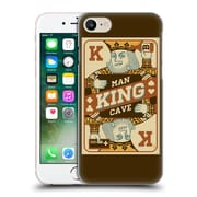 Official Lantern Press Man Cave King Card Hard Back Case For Apple Iphone 7