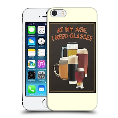 Official Lantern Press Man Cave At My Age I Need Glasses Hard Back Case For Apple Iphone 5 / 5S / Se