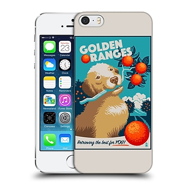 Official Lantern Press Dog Collection Golden Oranges Hard Back Case For Apple Iphone 5 / 5S / Se