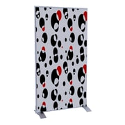 Paperflow EasyScreen Vertical Divider Screen, Black and Red Bubbles (31331)