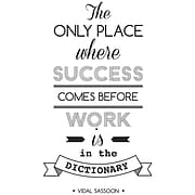 """Paperflow Office Deco Wall Transfers """"The only place where success"""" .15"""" x 26"""" (15103)"""