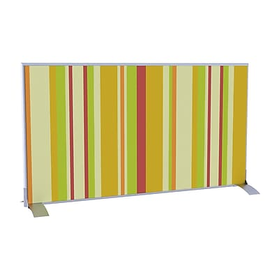 Paperflow EasyScreen Horizontal Divider Screen, Yellow Green and Red Vertical Stripe (31328)