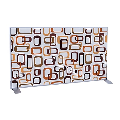 Paperflow EasyScreen Horizontal Divider Screen, Interlocking Ovals (31332)