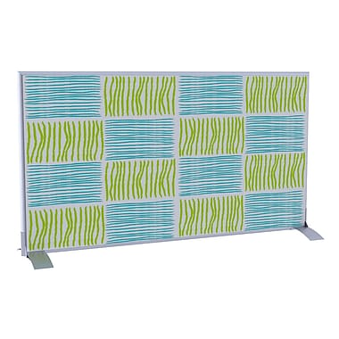 Paperflow EasyScreen Horizontal Divider Screen, Blue and Green Squares/Lines (31330)