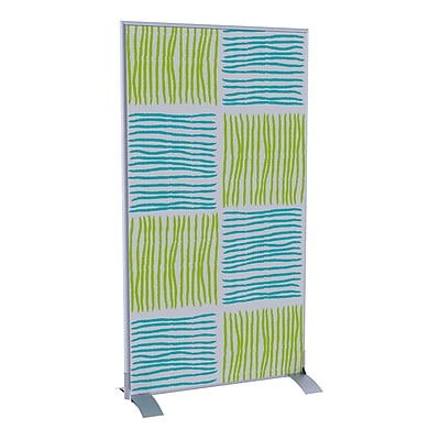 Paperflow EasyScreen Vertical Divider Screen, Blue and Green Squares/Lines (31329)
