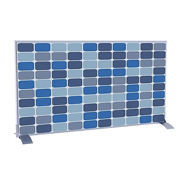 Paperflow EasyScreen Horizontal Divider Screen, Blue Squares (31333)
