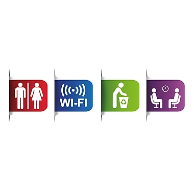 Paperflow Office Deco Wall Transfers Colorful Reception Signs 4