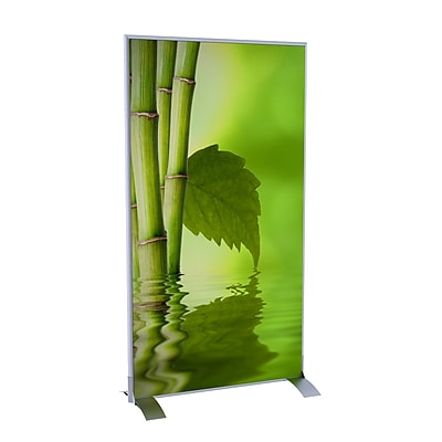 Paperflow EasyScreen Vertical Divider Screen, Bamboo with Leaf (31188)