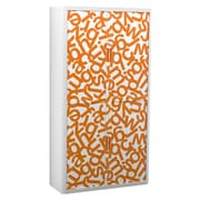 "Paperflow easyOffice Storage Cabinet, 80"" Tall with Four Shelves, Orange Alphabet (31198)"
