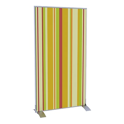 Paperflow EasyScreen Vertical Divider Screen, Yellow Green and Red Vertical Stripe (31325)