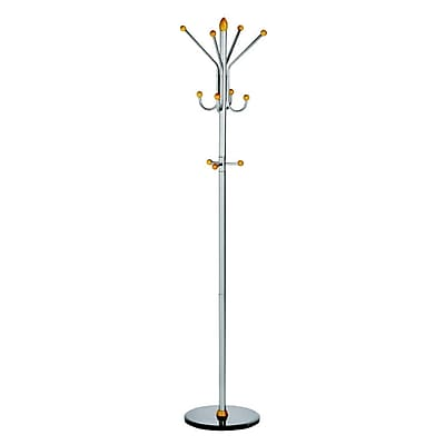 ALCO Ridge Coat Rack/Stand with Four Double Pegs with Three Knobs (2804)