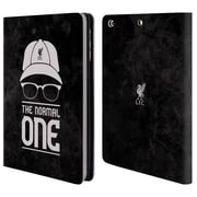 Official Liverpool Football Club Klopp Icons Normal Black Grunge Leather Book Wallet Case Cover For Apple Ipad Mini 1 / 2 / 3