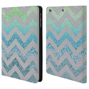 Official Monika Strigel Funky Chevron Tiffany Blue Leather Book Wallet Case Cover For Apple Ipad Mini 1 / 2 / 3