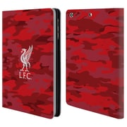 Official Liverpool Football Club Camou Home Colourways Liver Bird Leather Book Wallet Case Cover For Apple Ipad Mini 1 / 2 / 3