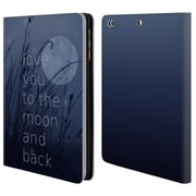 Official Monika Strigel Love Quote Blue Leather Book Wallet Case Cover For Apple Ipad Mini 1 / 2 / 3