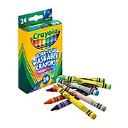 Crayola Washable Ultra Clean Crayons, Assorted Colors, 24/Box (52-6924)