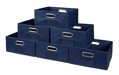 Niche Cubo Half-Size Foldable Fabric Storage Bins- Blue (HTOTE066PKBE)