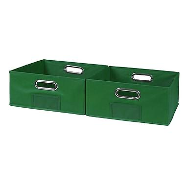 Niche Cubo Half-size Foldable Fabric Storage Bins- Green (HTOTE062PKGN)