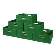 Niche Cubo Half-Size Foldable Fabric Storage Bins- Green (HTOTE066PKGN)