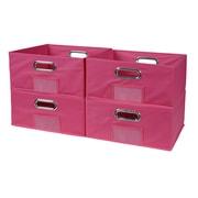 Niche Cubo Half Size Foldable Fabric Storage Bins  Pink (HTOTE064PKPK)