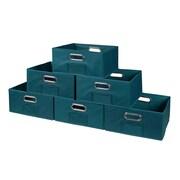Niche Cubo Half-Size Foldable Fabric Storage Bins- Teal (HTOTE0612PKTL)