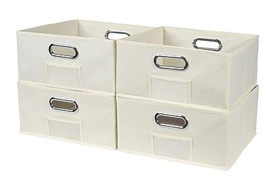 Niche Cubo Half-Size Foldable Fabric Storage Bins- Beige (HTOTE064PKNT)