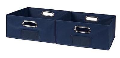 Niche Cubo Half-size Foldable Fabric Storage Bins- Blue (HTOTE062PKBE)